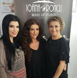 Anamaria Prodan si Andreea Tonciu la Ioana Roncu Make-up Studio